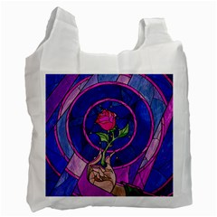 Enchanted Rose Stained Glass Recycle Bag (two Side)  by Samandel