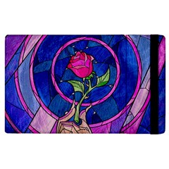 Enchanted Rose Stained Glass Apple Ipad 3/4 Flip Case by Samandel