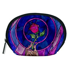 Enchanted Rose Stained Glass Accessory Pouches (medium)  by Samandel