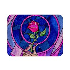 Enchanted Rose Stained Glass Double Sided Flano Blanket (mini)  by Samandel