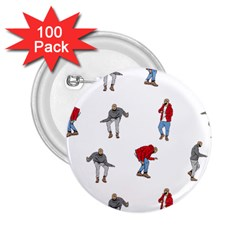 Drake Ugly Holiday Christmas 2 25  Buttons (100 Pack)