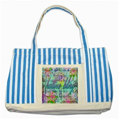 Drake 1 800 Hotline Bling Striped Blue Tote Bag by Samandel