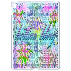 Drake 1 800 Hotline Bling Apple Ipad Pro 9 7   White Seamless Case by Samandel
