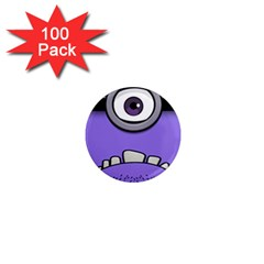 Evil Purple 1  Mini Magnets (100 Pack)  by Samandel