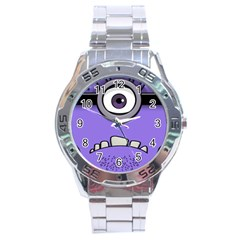Evil Purple Stainless Steel Analogue Watch