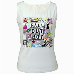 Fall Out Boy Lyric Art Women s White Tank Top by Samandel