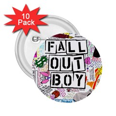 Fall Out Boy Lyric Art 2 25  Buttons (10 Pack)  by Samandel