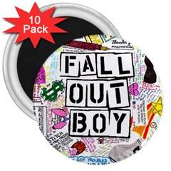 Fall Out Boy Lyric Art 3  Magnets (10 Pack)