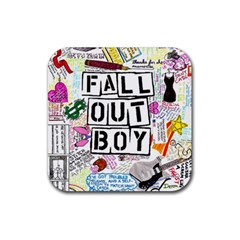 Fall Out Boy Lyric Art Rubber Coaster (square)  by Samandel