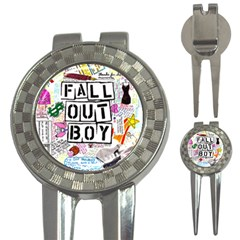 Fall Out Boy Lyric Art 3 In 1 Golf Divots by Samandel