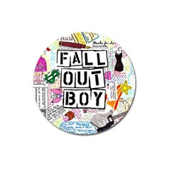 Fall Out Boy Lyric Art Magnet 3  (round)