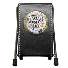 Fall Out Boy Lyric Art Pen Holder Desk Clocks by Samandel