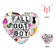Fall Out Boy Lyric Art Playing Cards (heart)  by Samandel