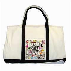 Fall Out Boy Lyric Art Two Tone Tote Bag by Samandel