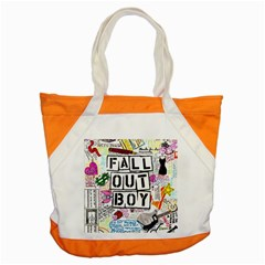Fall Out Boy Lyric Art Accent Tote Bag by Samandel