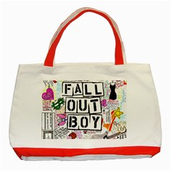 Fall Out Boy Lyric Art Classic Tote Bag (red) by Samandel