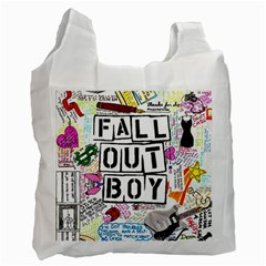 Fall Out Boy Lyric Art Recycle Bag (two Side)  by Samandel