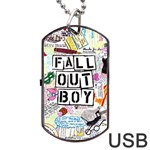 Fall Out Boy Lyric Art Dog Tag USB Flash (Two Sides) Front