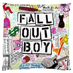 Fall Out Boy Lyric Art Large Cushion Case (one Side) by Samandel