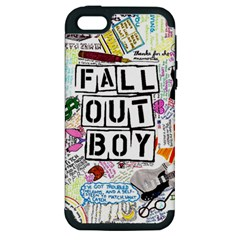 Fall Out Boy Lyric Art Apple Iphone 5 Hardshell Case (pc+silicone) by Samandel