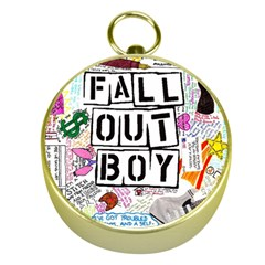 Fall Out Boy Lyric Art Gold Compasses by Samandel
