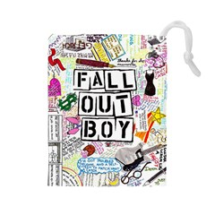 Fall Out Boy Lyric Art Drawstring Pouches (large)  by Samandel