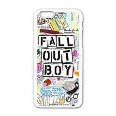 Fall Out Boy Lyric Art Apple Iphone 6/6s White Enamel Case