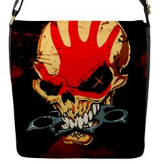 Five Finger Death Punch Heavy Metal Hard Rock Bands Skull Skulls Dark Flap Messenger Bag (s)