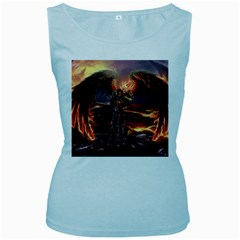 Fantasy Art Fire Heroes Heroes Of Might And Magic Heroes Of Might And Magic Vi Knights Magic Repost Women s Baby Blue Tank Top by Samandel