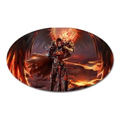 Fantasy Art Fire Heroes Heroes Of Might And Magic Heroes Of Might And Magic Vi Knights Magic Repost Oval Magnet
