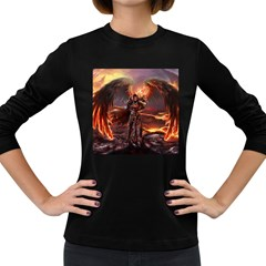 Fantasy Art Fire Heroes Heroes Of Might And Magic Heroes Of Might And Magic Vi Knights Magic Repost Women s Long Sleeve Dark T Shirts
