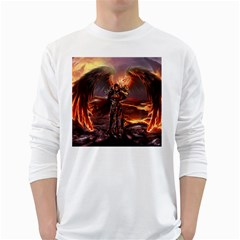 Fantasy Art Fire Heroes Heroes Of Might And Magic Heroes Of Might And Magic Vi Knights Magic Repost White Long Sleeve T Shirts