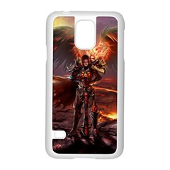 Fantasy Art Fire Heroes Heroes Of Might And Magic Heroes Of Might And Magic Vi Knights Magic Repost Samsung Galaxy S5 Case (white)