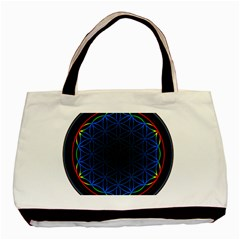 Flower Of Life Basic Tote Bag (two Sides) by Samandel