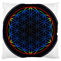 Flower Of Life Large Cushion Case (two Sides)