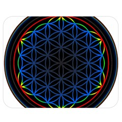 Flower Of Life Double Sided Flano Blanket (medium)