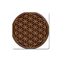 Flower Of Life Square Magnet