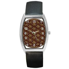Flower Of Life Barrel Style Metal Watch by Samandel