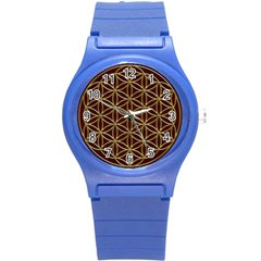 Flower Of Life Round Plastic Sport Watch (s)