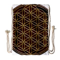 Flower Of Life Drawstring Bag (large) by Samandel