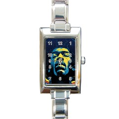 Gabz Jimi Hendrix Voodoo Child Poster Release From Dark Hall Mansion Rectangle Italian Charm Watch by Samandel