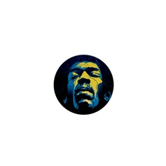 Gabz Jimi Hendrix Voodoo Child Poster Release From Dark Hall Mansion 1  Mini Buttons by Samandel