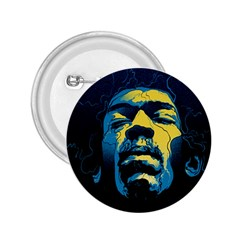 Gabz Jimi Hendrix Voodoo Child Poster Release From Dark Hall Mansion 2 25  Buttons by Samandel