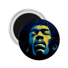 Gabz Jimi Hendrix Voodoo Child Poster Release From Dark Hall Mansion 2 25  Magnets by Samandel