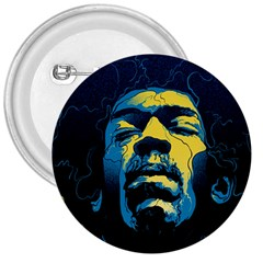 Gabz Jimi Hendrix Voodoo Child Poster Release From Dark Hall Mansion 3  Buttons by Samandel