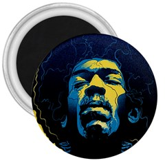 Gabz Jimi Hendrix Voodoo Child Poster Release From Dark Hall Mansion 3  Magnets by Samandel