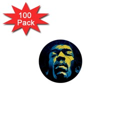 Gabz Jimi Hendrix Voodoo Child Poster Release From Dark Hall Mansion 1  Mini Buttons (100 Pack)  by Samandel