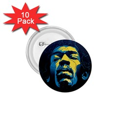 Gabz Jimi Hendrix Voodoo Child Poster Release From Dark Hall Mansion 1 75  Buttons (10 Pack) by Samandel
