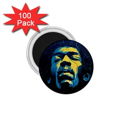 Gabz Jimi Hendrix Voodoo Child Poster Release From Dark Hall Mansion 1 75  Magnets (100 Pack)  by Samandel