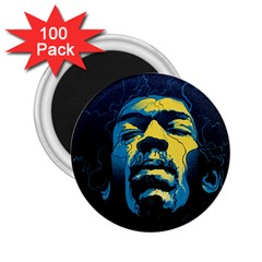 Gabz Jimi Hendrix Voodoo Child Poster Release From Dark Hall Mansion 2 25  Magnets (100 Pack)  by Samandel